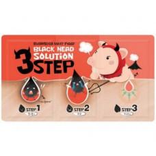 Набор от чёрных точек   Milky Piggy Black Head Solution 3 Step Nose Strip   Elizavecca